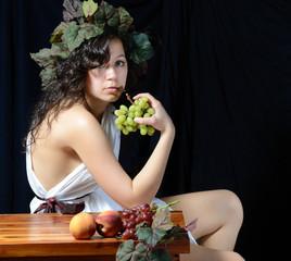 Girl in Classical Roman Attire