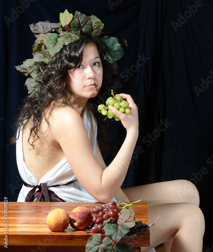 Girl in Classical Roman Attire