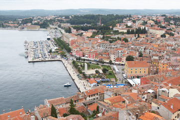 Croatia, Rovinj. View of the city from the belfry