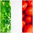 collage verde bianco rosso tricolore