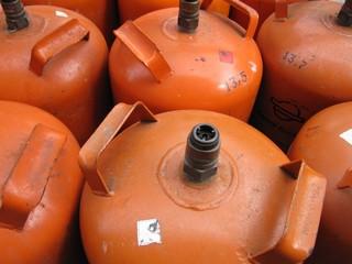 Botellas de gas butano