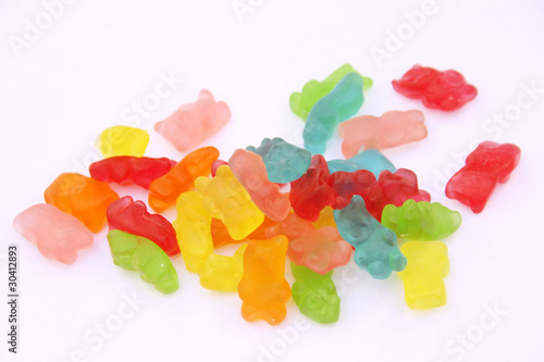 Colorful gummy bears