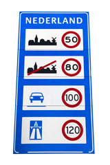 Dutch speed limit sign