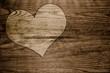 Herz Holz  Liebe Hintergrund braun