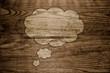 Holz Hintergrund Alt Wolke Sprechblase