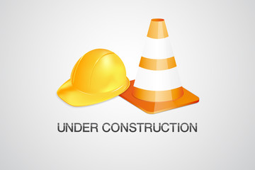 Under construction vector symbol