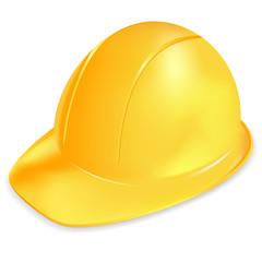 Under construction vector symbol - yellow helmet