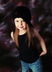 Gorgeous preschool girl