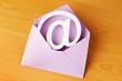 Kuvert mit e-Mail zeichen