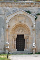Portal of San Leonardo church in Siponto