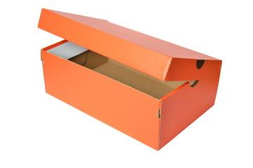 Empty box isolated on white