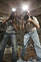 Paparazzi Photographers Shooting a Murder Victim