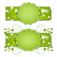 Banner design for springtime card isolated