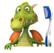 Dragon et brosse à dents