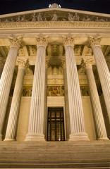 Vienna - columns of parliamen in the night