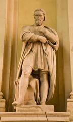 Michelangelo satue from Vienna - art museum facade