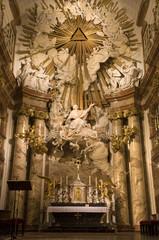 Vienna - altar from baroque Charles Boromeo church