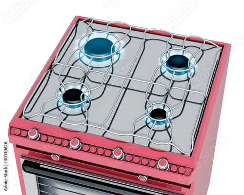 Fornelli cucina a gas rossa immagini e fotografie - Fornelli cucina ...