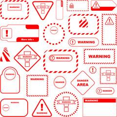 Warning vector signs. Big collection.