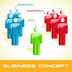 Teamwork business concept. Vector illustration.