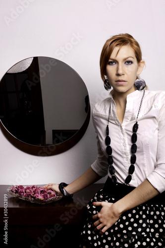 beautiful woman on a fashion style