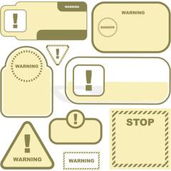Warning signs. Vector set.