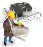 Architect planning an energy efficient home
