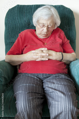 Senior woman napping