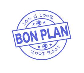 """Tampon """"100 % bon plan"""""""