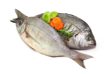 Rosmarin, Gemüse, Fisch