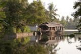 Houseboats in Kerela Backwaters