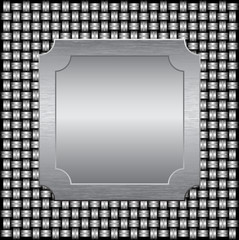 Metal grate with a metal plate