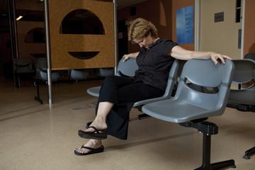 Long wait at the hospital waiting room