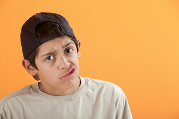 Youngster Makes Faces