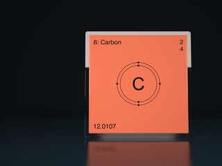 Carbon chemical element of the periodic table with symbol C