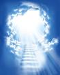 Leinwanddruck Bild - stairs in sky