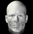 adult male dental scan 3d illustration