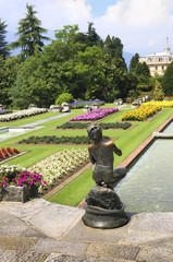gardens of the Taranto Park on Lake Maggiore in Northern Italy