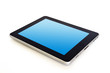 digital tablet with blue screen