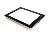 digital tablet with white screen