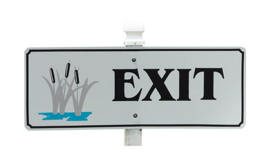 Exit Sign Isolated