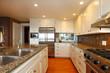 Luxury white kitchen with beautiful granite