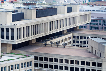 J Edgar Hoover FBI Building Above Washington DC