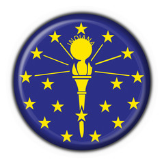 Indiana (USA State) button flag round shape