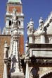 A detail of the Doge palace in Venice in Italy