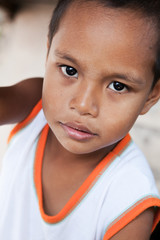 Young Asian boy portrait in Philippines