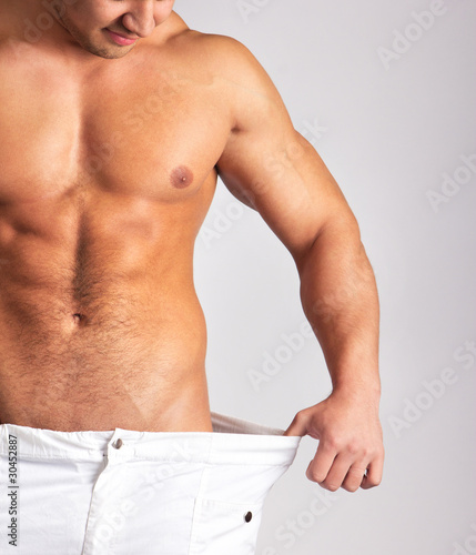 Picture of muscular males body
