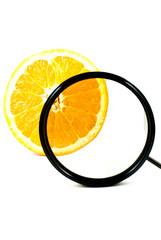 Polarizer Filter and Orange Fruit