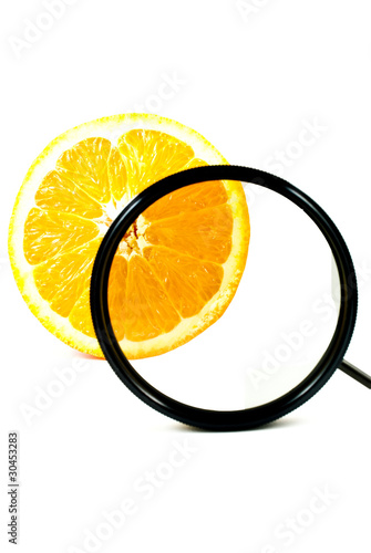 Polarizer Filter and Orange Fruit