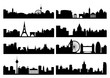 European capital silhouettes